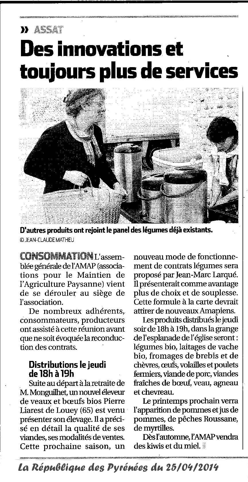 2014.04.25 Article République AMAP Assat